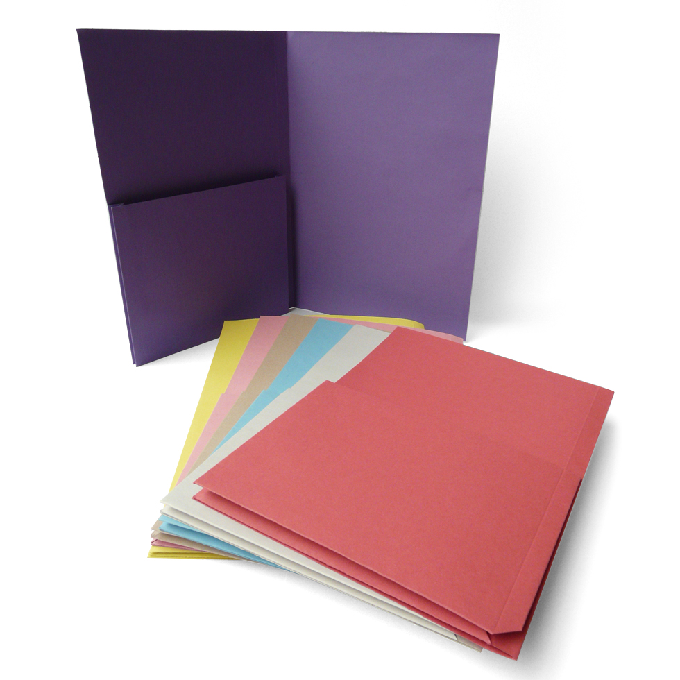 Single Upright Pocket Folders